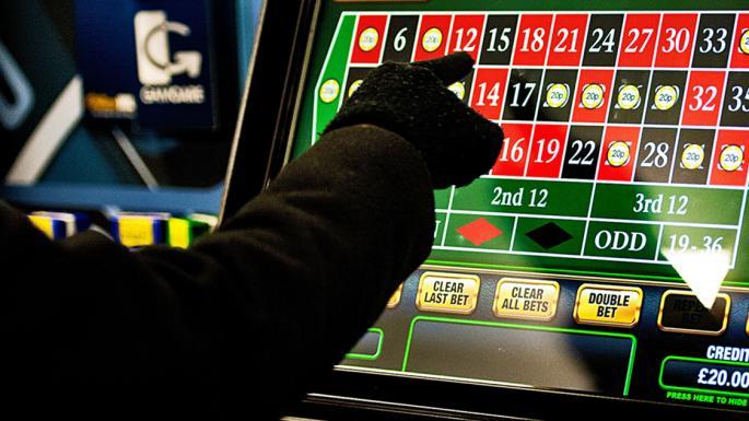 Рулетка на екрана на игрална машина в наземно казино