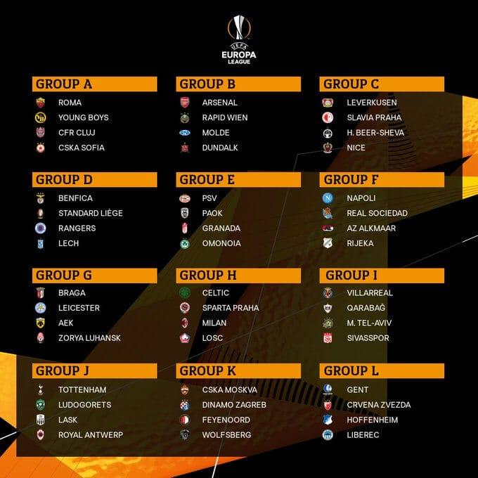 лига европа групи
