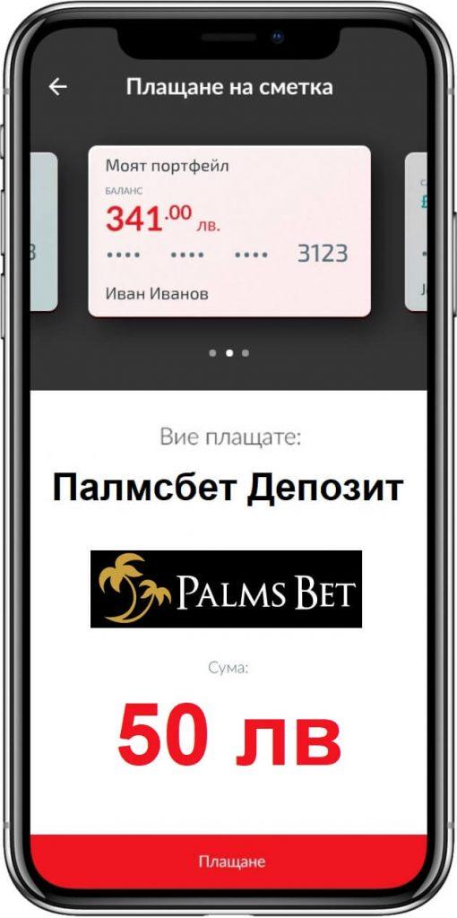 Палмсбет депозит чрез Cashterminal