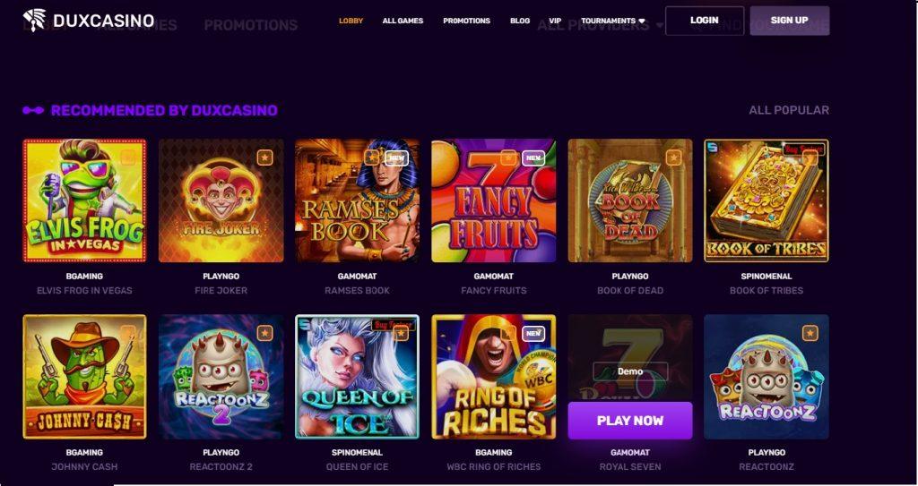 Чуждестранно казино Dux Casino