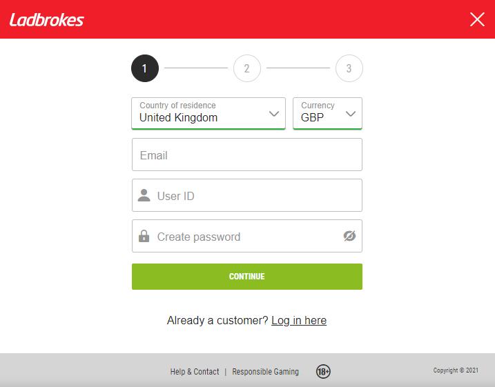 Първа стъпка от регистрацията в LadBrokes