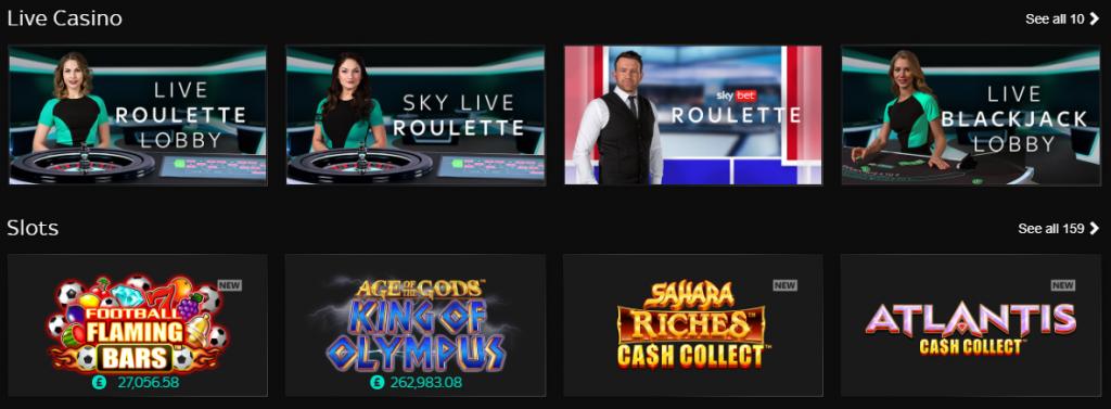 Казино игри в Skybet