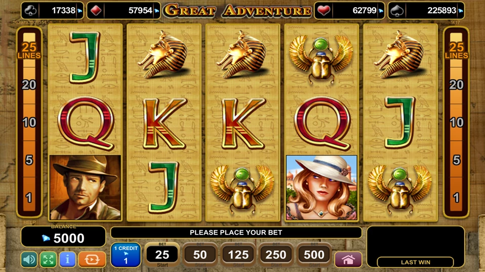 Great Adventure Slot EGT