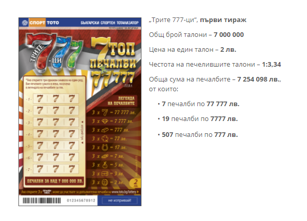 """Моментна игра """"Трите 777-ци"""""""